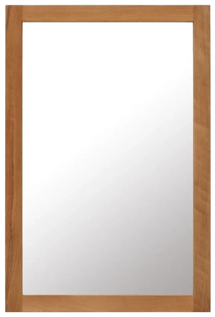 vidaXL Zrkadlo 60x90 cm, dubový masív