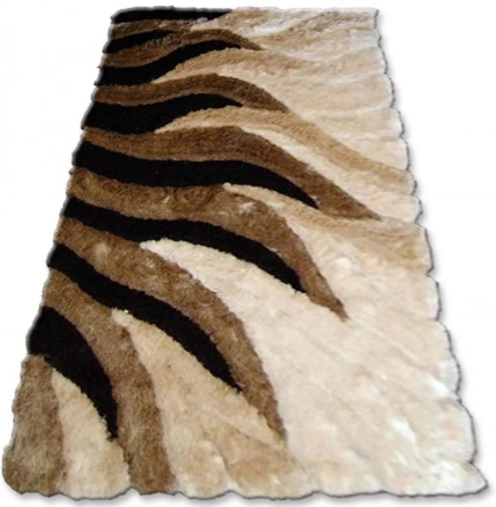 Luxusný kusový koberec Shaggy Sun hnedý, Velikosti 140x190cm