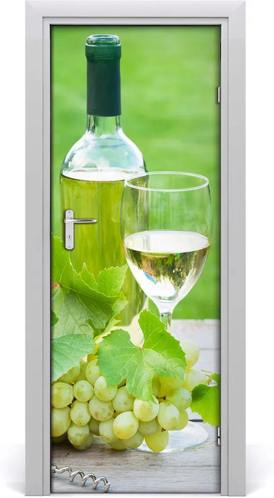Fototapeta na dveře samolepící Hrozny a víno