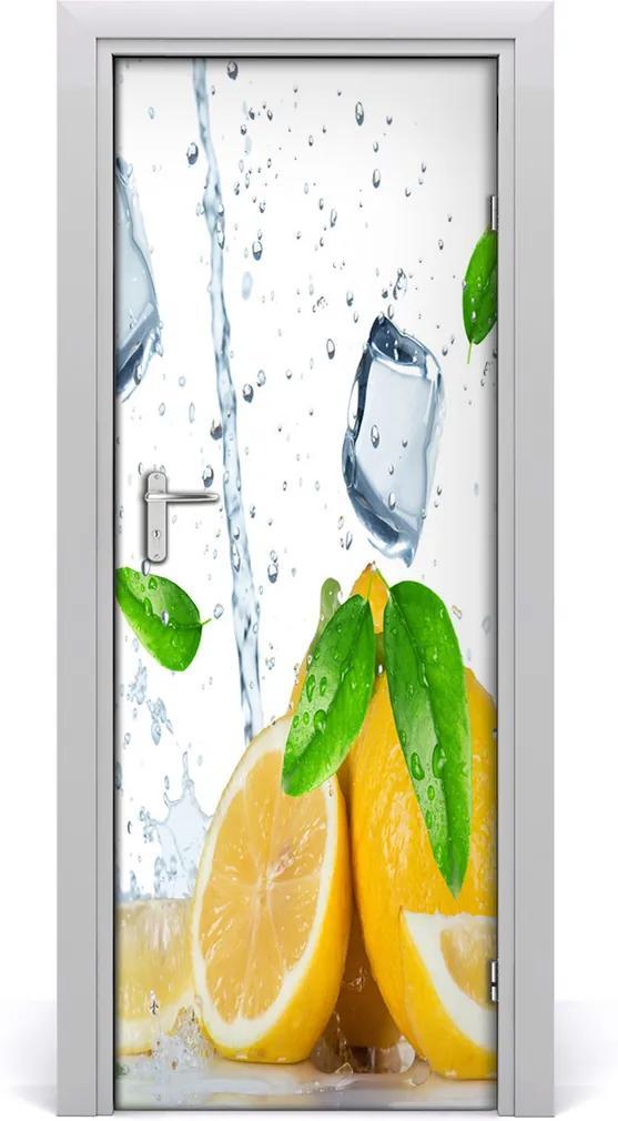 Fototapeta na dveře samolepící Citron a led