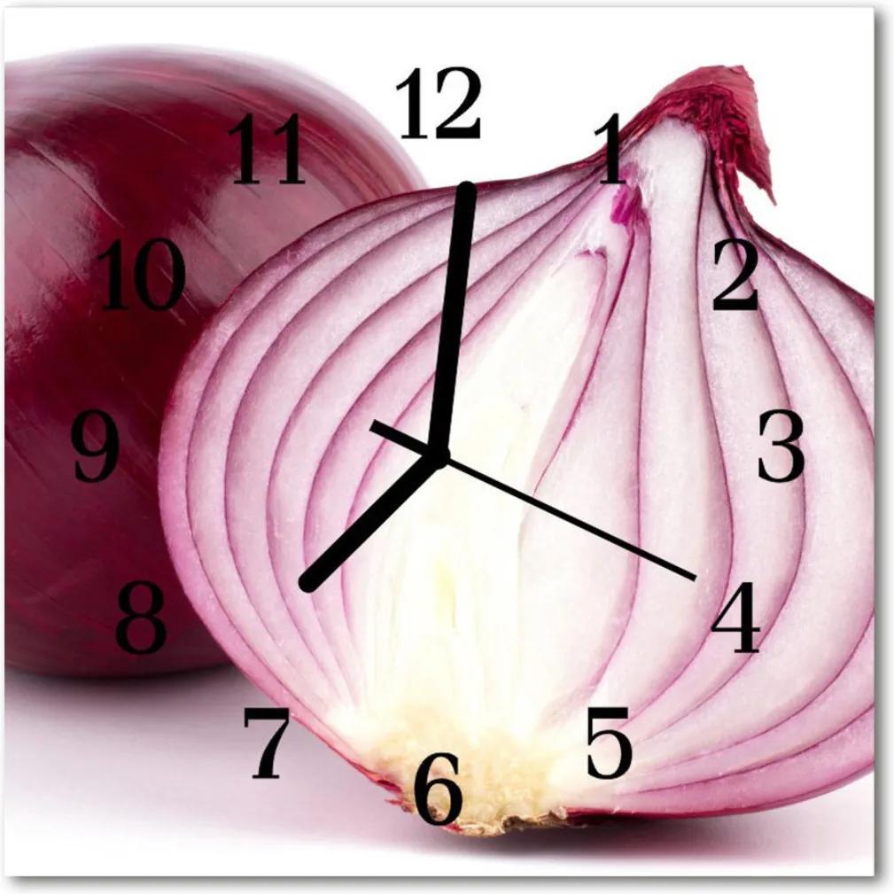 Skleněné hodiny čtvercové cibule