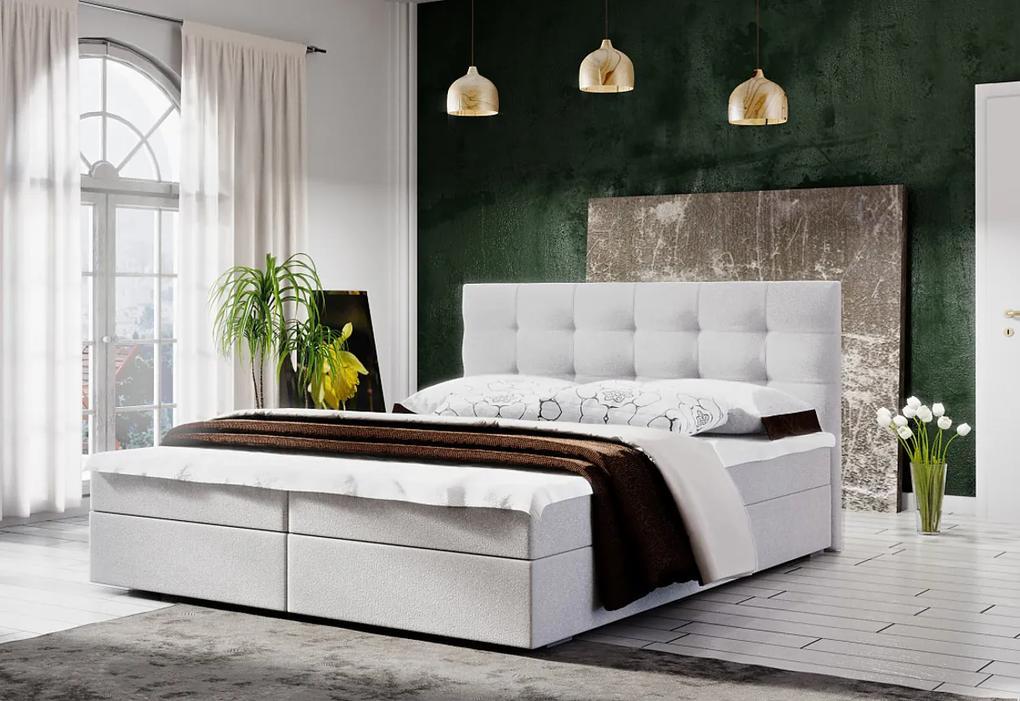 Čalúnená posteľ LAKE 2 + rošt + matrac, 160x200, Cosmic 10