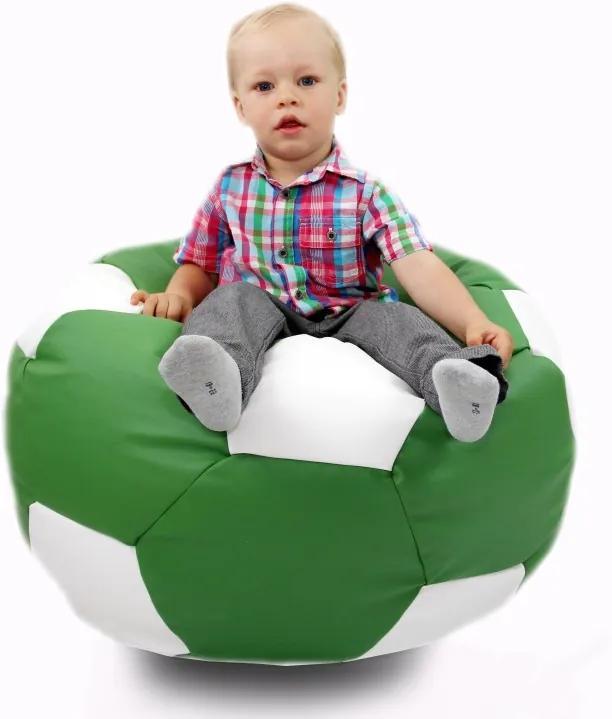 Sedací vak malá zeleno biela futbalová lopta