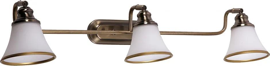 Rábalux 6547 Nástenné Lampy bronz biely E14 R50 3x MAX 40W 670 x 180 mm