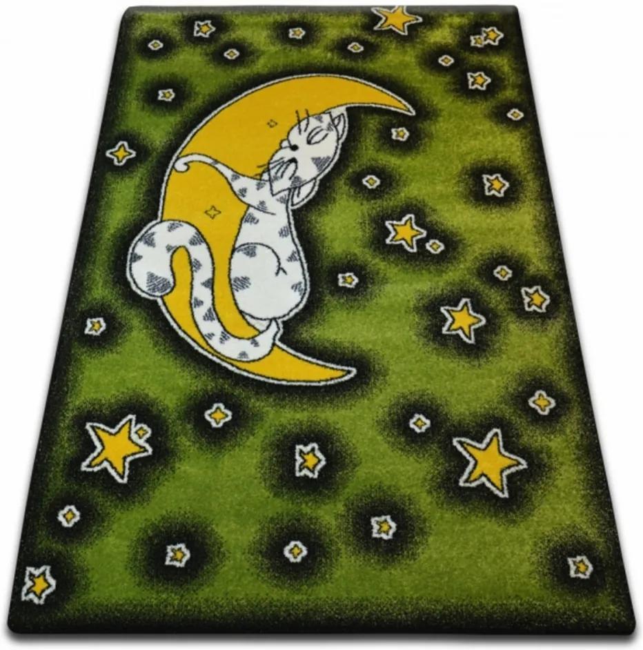 Detský kusový koberec Nočná obloha zelený, Velikosti 240x330cm