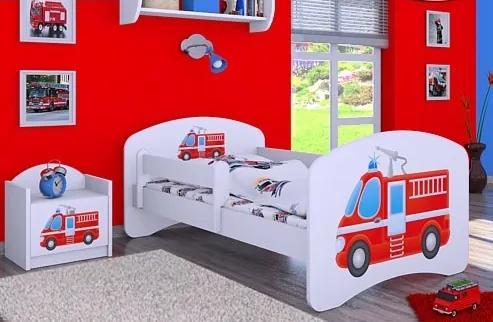 MAXMAX Detská posteľ bez šuplíku 160x80cm HASIČI 160x80 pre chlapca NIE