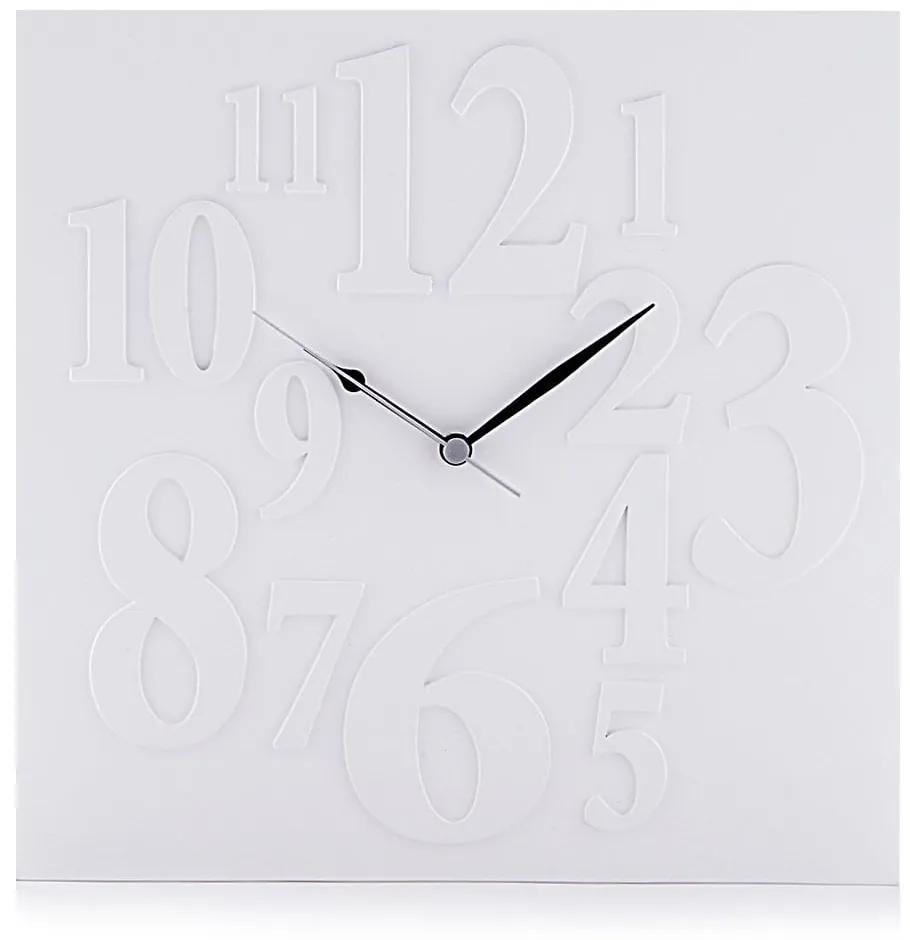 Biele nástenné hodiny Tomasucci Mi× White