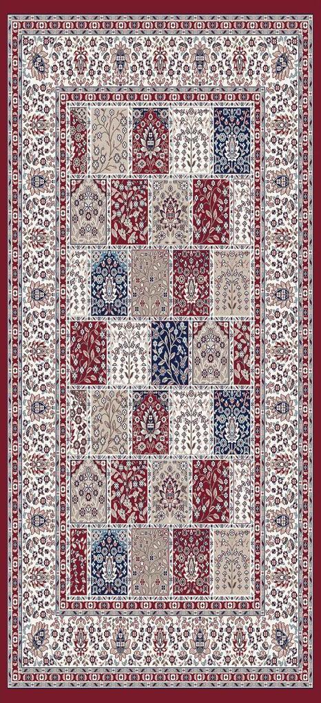Festival koberce Kusový koberec Silkway 4241A Red - 80x150 cm