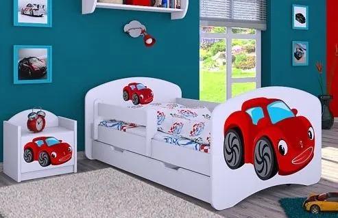 MAXMAX Detská posteľ so zásuvkou 180x90cm RED CAR