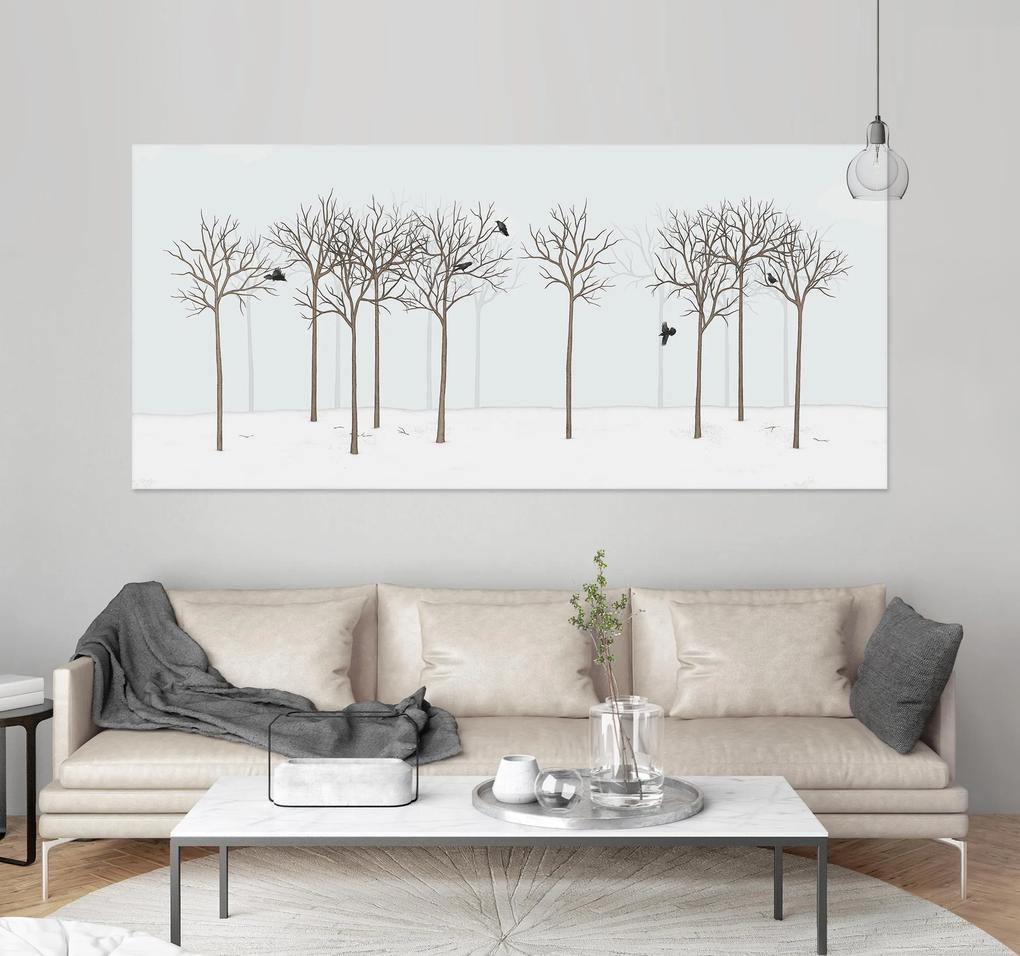 RAVEN IN DARK FOREST – 150 x 75 cm