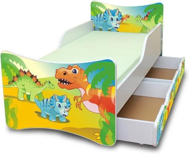MAXMAX Detská posteľ so zásuvkou 200x80 cm - DINO 200x80 pre chlapca ÁNO