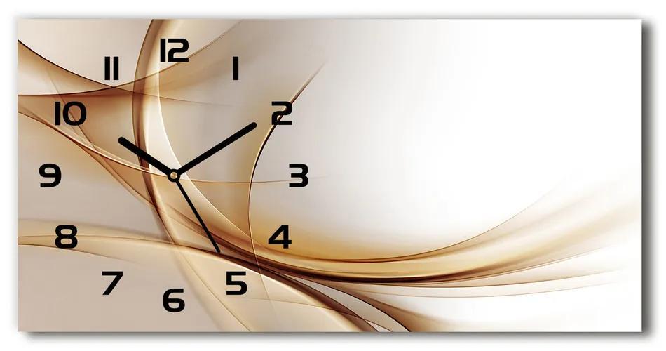 Sklenené hodiny na stenu Abstrakcie vlny pl_zsp_60x30_f_79976073