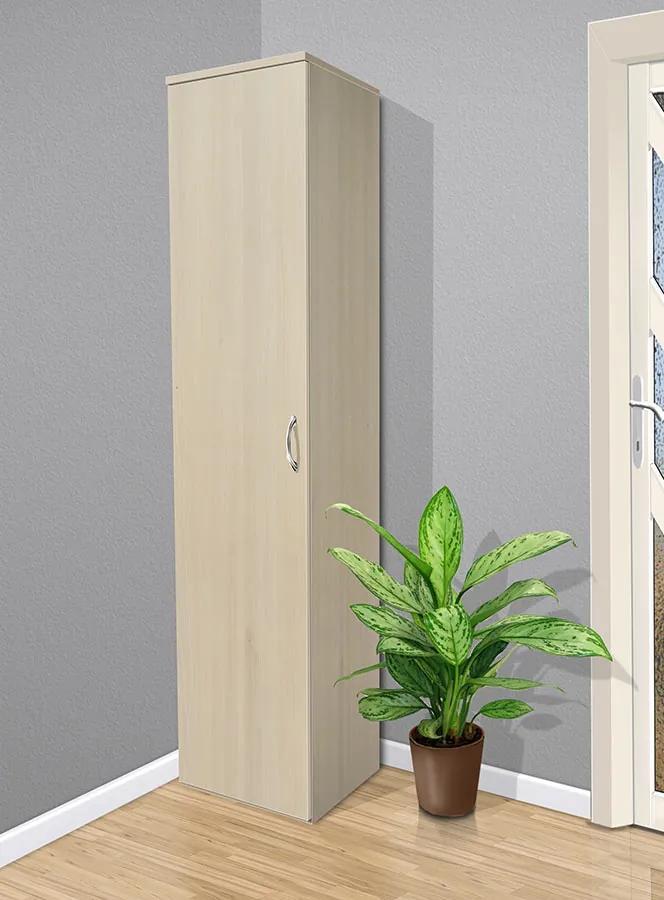 Nabytekmorava Policová skriňa do spálne Alfa 14 farba lamina: breza 1715