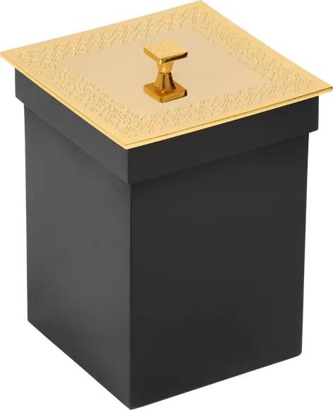 Kúpeľňový kôš  Frame s poťahom 24k zlata