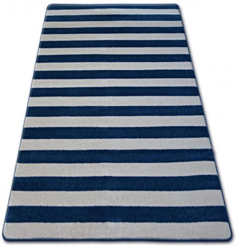Kusový koberec Pruhy modrý 160x220, Velikosti 160x220cm