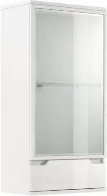 TEMPO KONDELA Adonis AS 8 vitrína na stenu s osvetlením biela