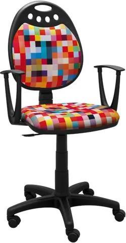 MAXMAX Detská otočná stolička MIA - COLOR