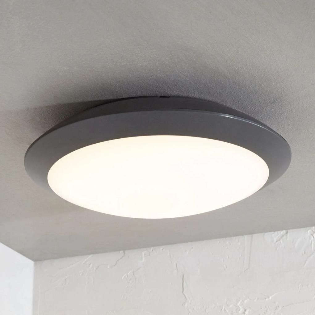 Vonkajšie stropné LED svietidlo Naira sivé bez