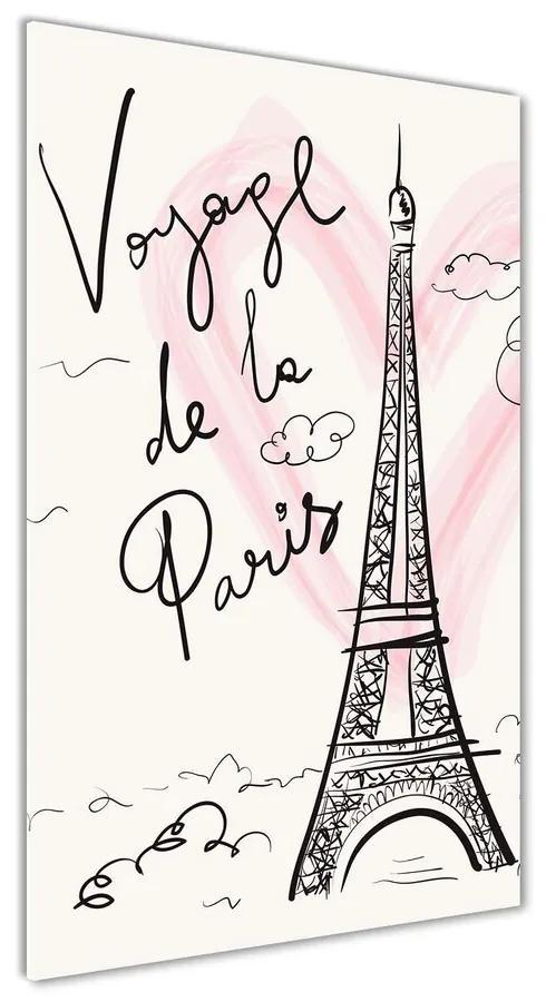 Foto obraz akrylový Eiffelová veža Paríž pl-oa-70x140-f-83608370