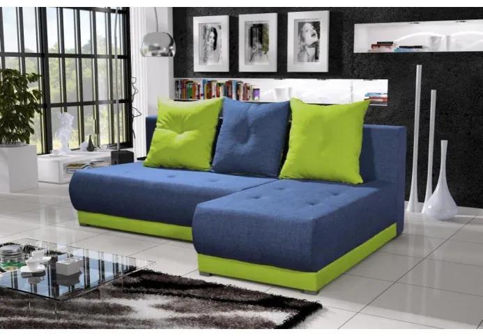 Elegantná sedacia súprava LEONARD, modrá + zelená