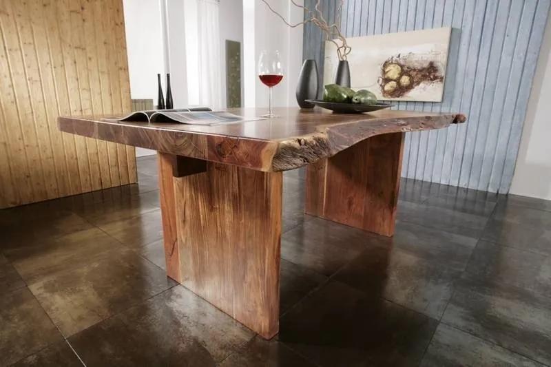 Bighome - METALL Jedálenský stôl Štandard 150x100 cm, akácia