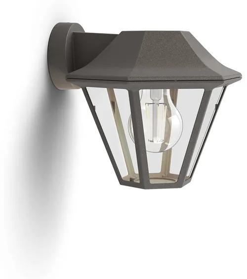 Philips 17386/43/PN Curassow exteriérové nástenné svietidlo, E27, 1x42W, bez zdroja, IP44, hnedá patina