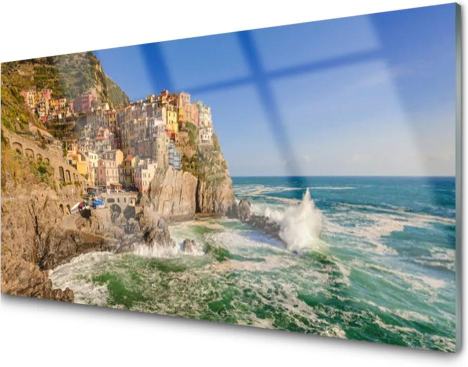 Akrylové obraz Moře hory krajina