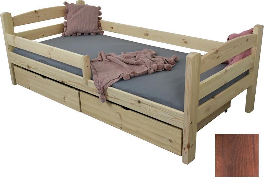 FA Detská posteľ Oľga 5 (200x90 cm) s úložnými priestormi - viac farieb Farba: Orech