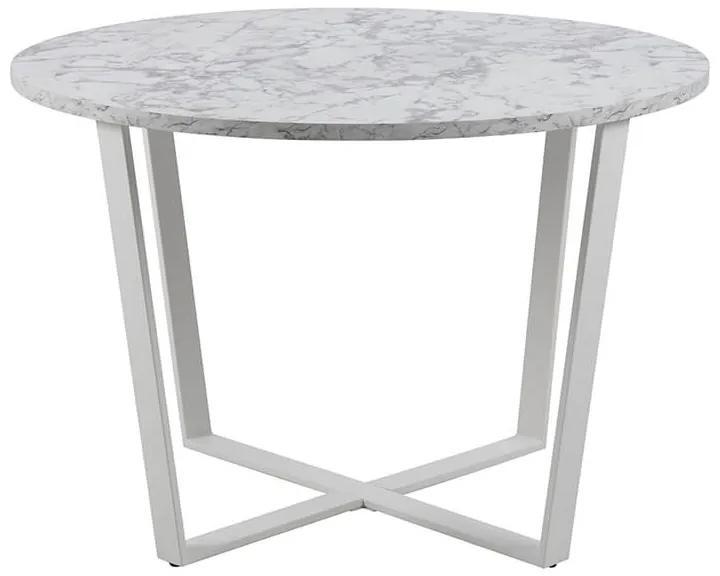 Amble jedálenský stôl R110 biely melír
