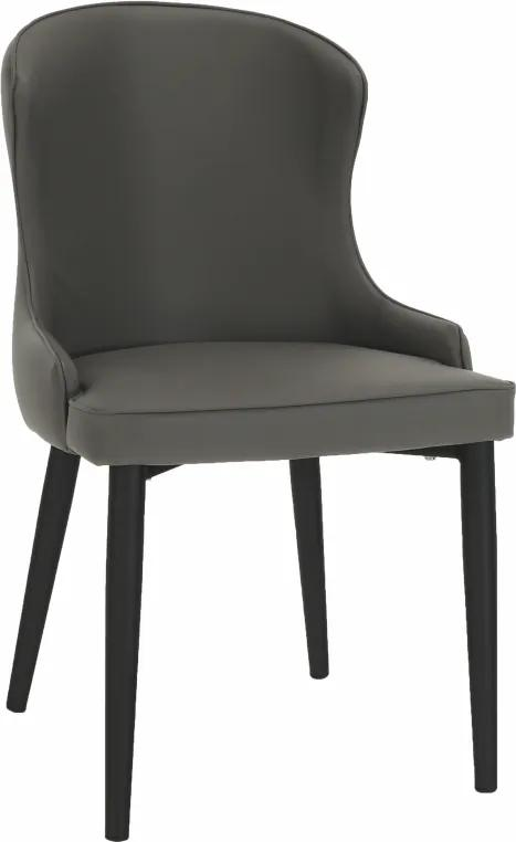 Jedálenská stolička, sivá/čierna, SIRENA