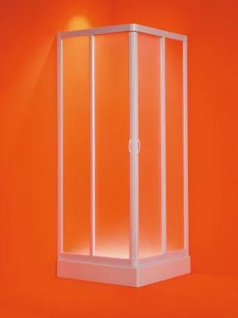 HOPA - Čtvercový sprchový kout ANGOLO - 185 cm, Plast bílý, 75 - 80 cm × 75 - 80 cm, Univerzální, Polystyrol (OLBVEL80EX)