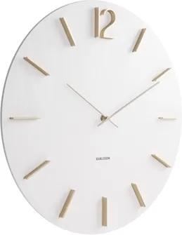 Karlsson Biele nástenné hodiny - Karlsson Meek, OE 50 cm