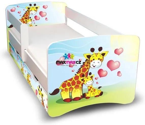 MAXMAX Detská posteľ so zásuvkou 180x90 cm - žirafkou II 180x90 pre všetkých ÁNO