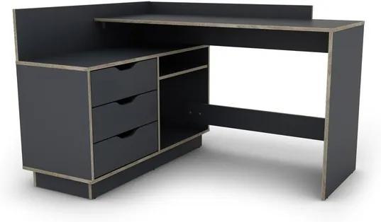 Sconto Písací stôl THALES 2 grafit/dub sonoma