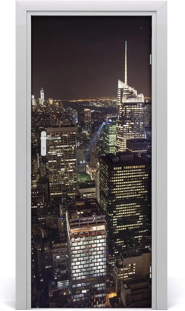 Fototapeta samolepiace na dvere  New York noc