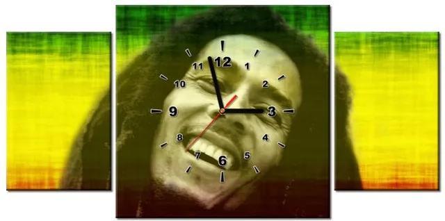 Tlačený obraz s hodinami Bob Marley 80x40cm ZP1166A_3AX