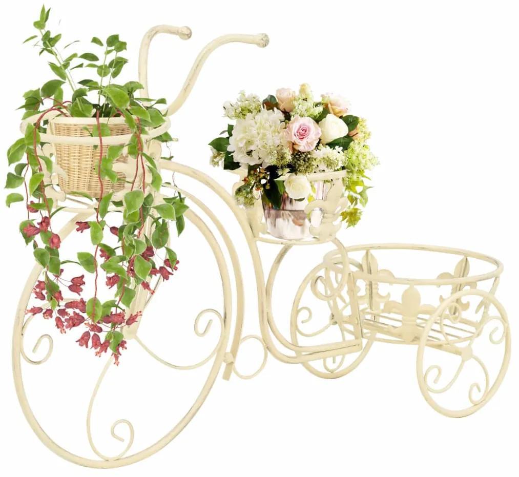 Podstavec pod kvetináč v tvare bicykla, vintage štýl kovový