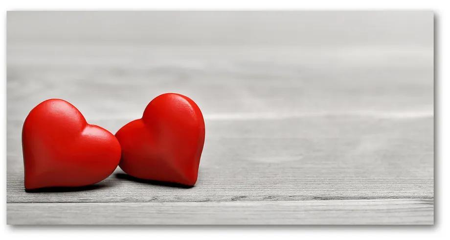 Moderný foto-obraz akryl na stenu Srdce na strome pl-oa-140x70-f-75821081