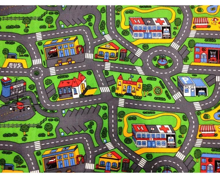 Detský koberec Mesto - City Life 80 × 120 cm