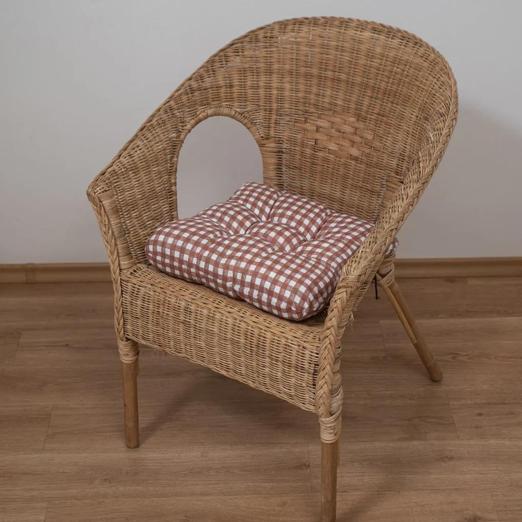 Podložka na stoličku Soft kostička hnedý