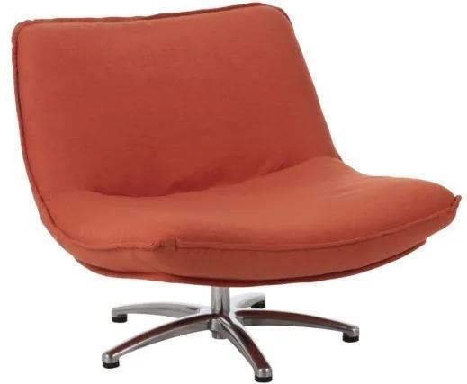 Oranžové zamatovej točiace kreslo Turn Velvet - 85 * 94 * 68 cm