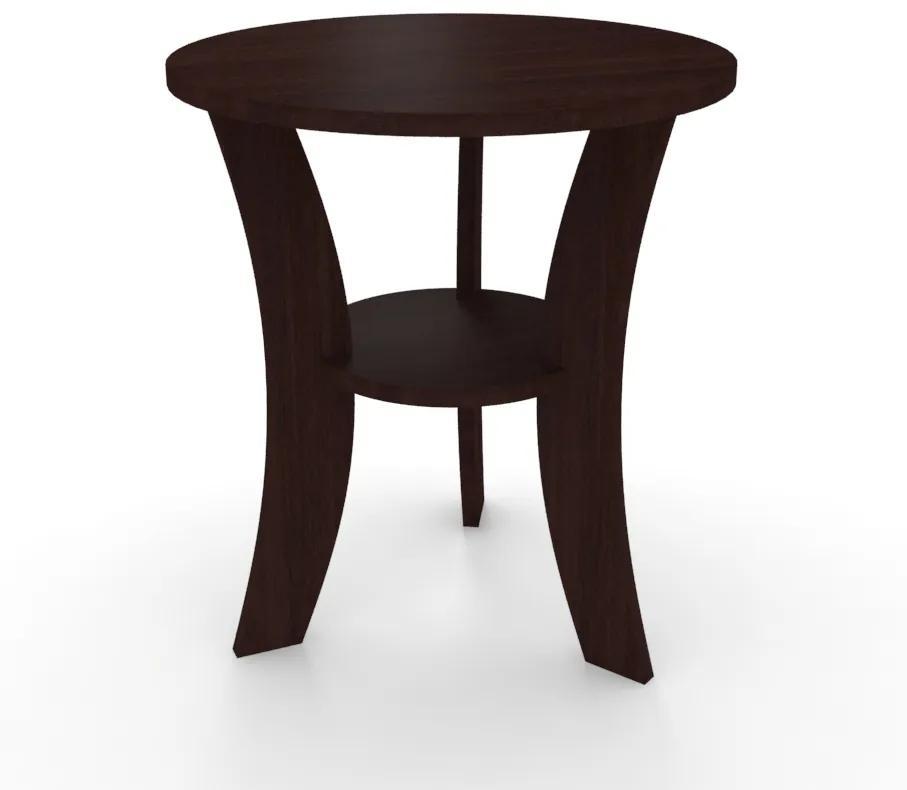 Odkladací stolík guľatý 51 cm oblé nohy - Dub lancelot