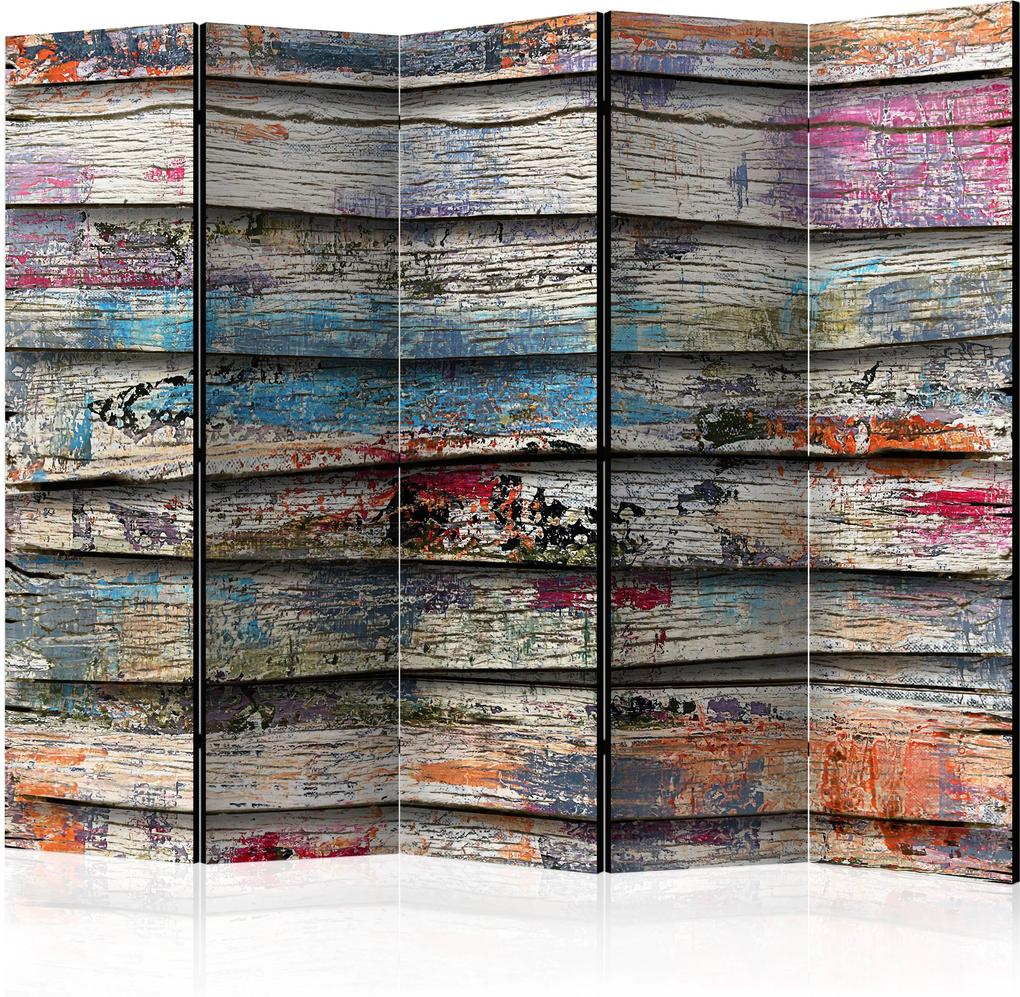 Paraván - Colourful Wood II [Room Dividers] 225x172 7-10 dní