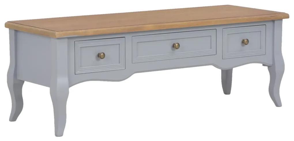 vidaXL TV stolík sivý 100x35x35 cm drevený