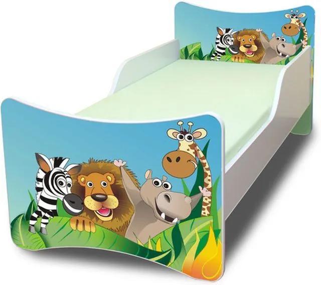 MAXMAX Detská posteľ 140x70 cm - ZOO 140x70 pre chlapca NIE