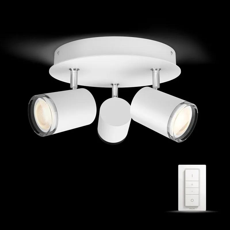 Philips HUE 34362/31/P7 Adore Kúpeľňový spot stropné svietidlo 5,5W=3 x 250lm GU10 2200 - 6500K