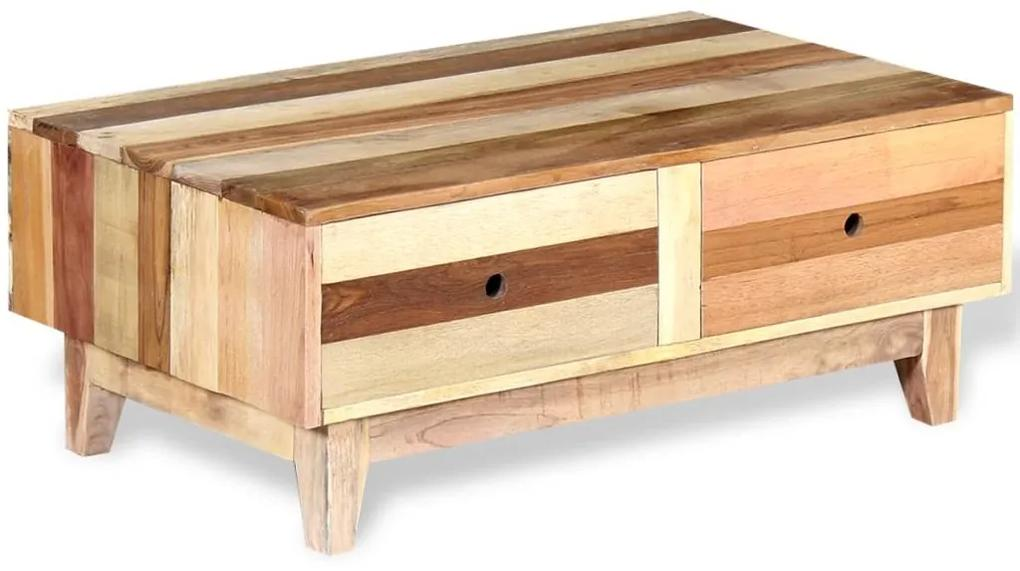 vidaXL Konferenčný stolík z masívneho recyklovaného dreva