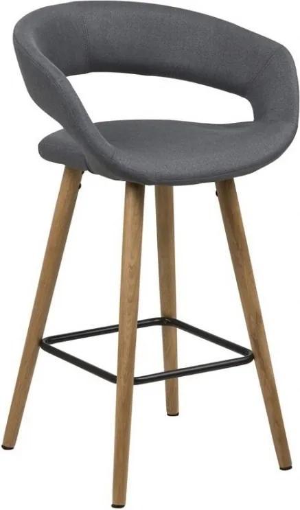 Barová židle Garry 87 cm, látka, tmavě šedá SCHDN0000066266S SCANDI+