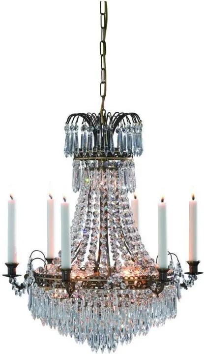 Sviečkový závesný krištáľový luster 100649
