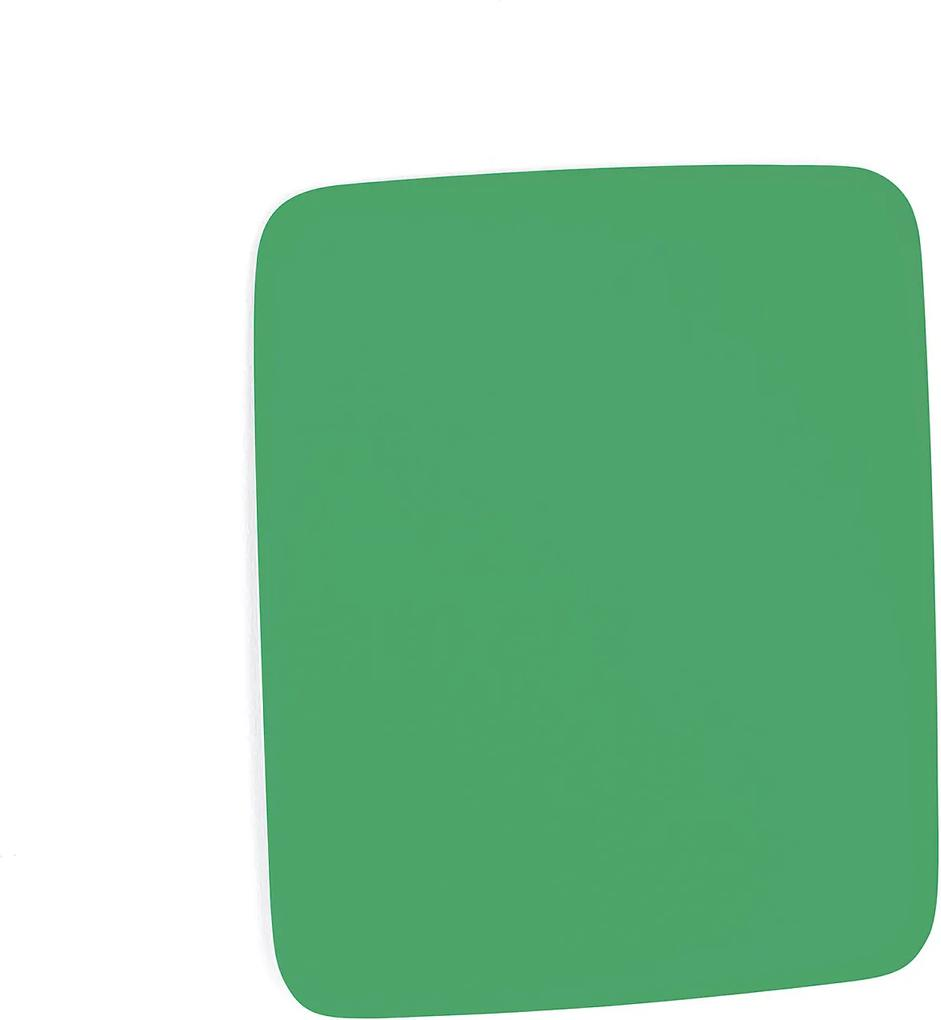 Sklenená magnetická tabuľa Stella so zaoblenými rohmi, 500x500 mm, zelená
